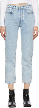 Rag & Bone Blue Maya High-Rise Slim Jeans