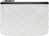 Pierre Hardy White & Grey Perspective Cube Zip Pouch