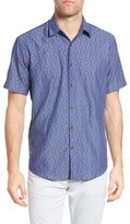 James Campbell Men's Diamond Jacquard Sport Shirt