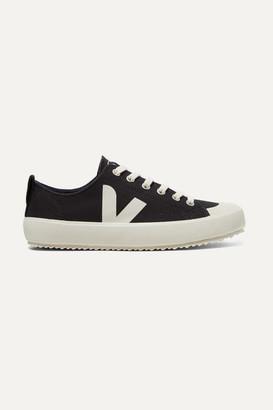 Veja Net Sustain Nova Organic Cotton-canvas Sneakers - Black