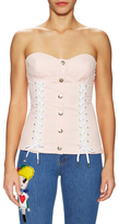 Love Moschino Lace Up Bustier
