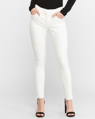 Express High Waisted Denim Perfect White Ankle Skinny Jeans
