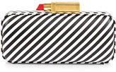 Lulu Guinness Black & White Stripe Carrie Clutch
