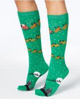 Charter Club Women's Flying Santa Knee-High Socks, Created for Macy's