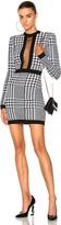 Balmain Printed Sheer Panel Mini Dress