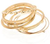 Gold and Crystal 8pc Bangle Set