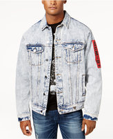 GUESS Men's Oversized Stonewashed Denim Jacket