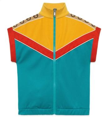 Gucci Children's technical jersey sleeveless sweatshirt