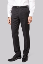 DKNY Slim Fit Grey Textured Trousers
