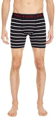 Polo Ralph Lauren Cotton Stretch Pouch Boxer Briefs (Polo Black/Andover Heather/Nevis Stripe/RL2000 Red PP) Men's Underwear