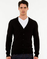 Le Château Cotton V-Neck Slim Fit Cardigan