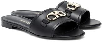 Salvatore Ferragamo Rhodes Gancini leather slides