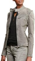 Lauren Ralph Lauren Stretch Denim Moto Jacket