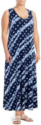 Rachel Roy Plus Sleeveless Printed Maxi Dress