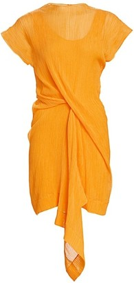 Nina Ricci Draped Cotton & Silk Dress