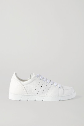 Loewe Textured-leather Sneakers - White