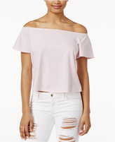 GUESS Amore Printed Off-The-Shoulder Top