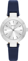 DKNY Stanhope Stainless Steel Navy Leather Watch