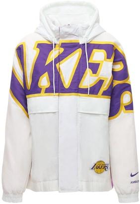 Nike Lakers Nrg Ir Hooded Nylon Jacket