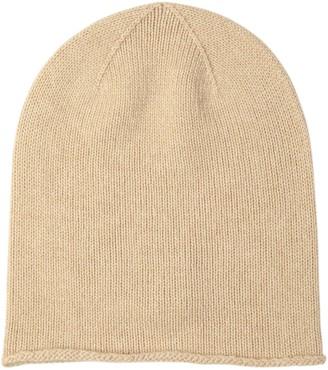 Johnstons of Elgin Natural Roll Trim Cashmere Hat