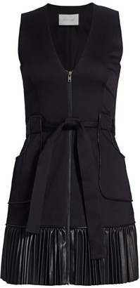 Alexis Kelsie Contrast-Hem Mini Dress