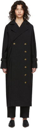 Totême Black Pisa Trench Coat