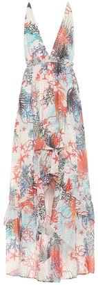 Dundas Printed silk-blend midi dress