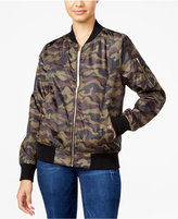 Say What Juniors' Camo-Print Bomber Jacket