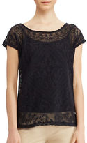 Lauren Ralph Lauren Roundneck Embroidered Tee