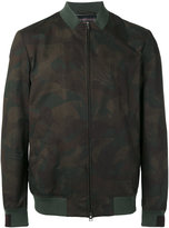 Etro leaves print bomber jacket - men - Cotton/Polyester/Acetate/Cupro - M
