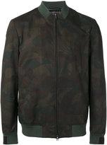 Etro leaves print bomber jacket