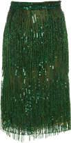 Naeem Khan M'O Exclusive: Beaded Fringe Skirt