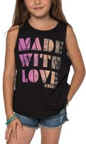 O'Neill Girl's Made With Love Tank