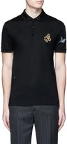 Lanvin Embroidered patch polo shirt
