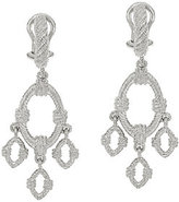 Judith Ripka Sterling Textured Drop Earrings