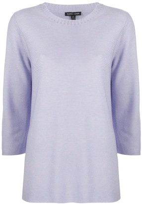 Eileen Fisher Three-Quarter Sleeve Ribbed Jumper