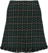 Raoul Frayed tweed mini skirt