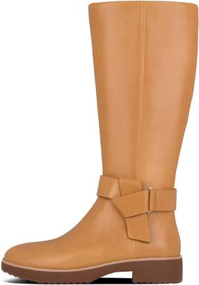 FitFlop Knot Leather Knee-High Boots