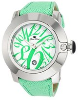 Glam Rock Women's GR32079 SoBe White Dial Lime Green Leather Watch