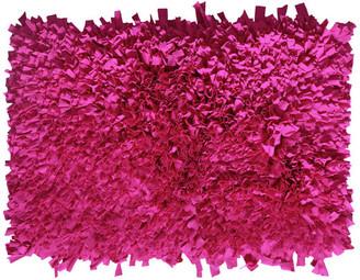 "Home Weavers Inc. Bella Premium Jersey Shaggy Accent Rug, 24""x36"", Hot Pink"