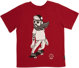 Rock Your Baby Tots Boys Hipster Skater Tee Red