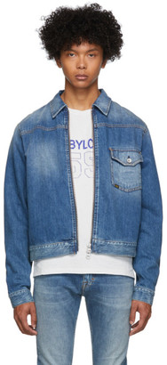 Tiger of Sweden Blue Denim Ry Zip Jacket