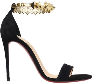 Christian Louboutin Planetava 100 Sandals In Black Suede