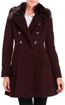 Via Spiga Double-Breasted Wool-Blend Coat