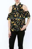 Entro Black Button-Down Blouse