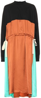 Plan C Colorblocked midi dress