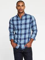 Old Navy Slim-Fit Check-Print Classic Shirt for Men