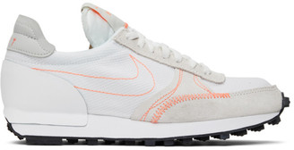 Nike White and Taupe Daybreak-Type Sneakers
