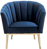"Everly Burney 20"" Barrel Chair Quinn Upholstery Color: Blue"