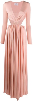 Elisabetta Franchi cut-out O ring dress